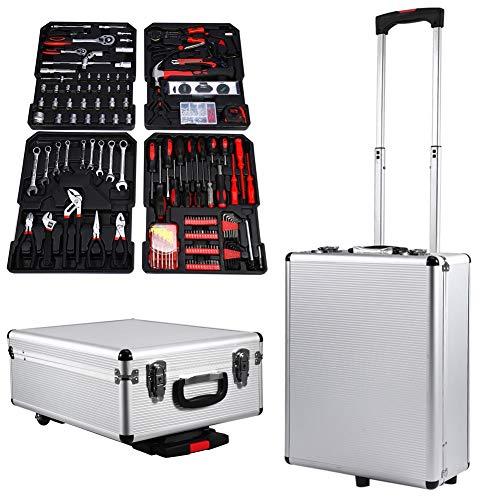 Maleta de herramientas, kit de 399unidades Trolley de herramientas instrumentos para el DIY, con ruedas