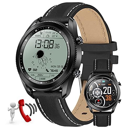 Smartwatch Fitness Armband Tracker Voller Touch Screen Uhr Wasserdicht IP67 Armbanduhr Smart Watch Mit Schrittzähler Pulsmesser Stoppuhr Sportuhr Bluetooth Für Ios Android Damen Herren,Schwarz