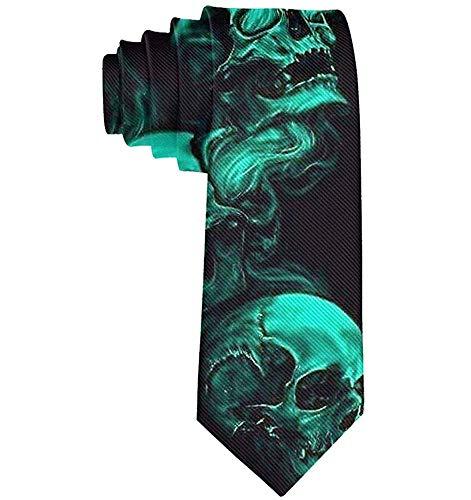 Grüne Kühle Rauch-Schädel-Krawatte - Klassische Mode-Herr-Geschenk-Krawatten-Hochzeitsfest-Krawatte