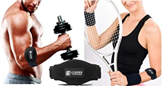 Copper Tennis Elbow Brace Forearm Strap. Guaranteed Highest Copper Content. Patent Pending. The ONLY Copper Tennis and Golfers Elbow Brace. with Gel Fit Pad. Support Lateral Tendonitis (2-Pack)