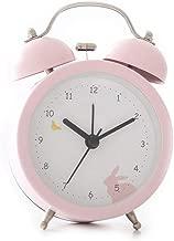 新鮮で素敵な動物のフィギュア目覚まし時計シンプルなナイトライトミュートファッションベッドクリエイティブパーソナリティホーム3色オプション CHENGYI (Color : Pink, Size : 85MM*45MM*122MM)