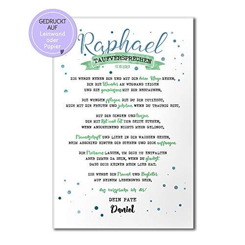 Patenbrief Taufpatin Taufpate Patenkind zur Taufe persönliches Geschenk Taufgeschenk Tauf-brief