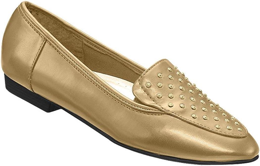 AmeriMark Women's Adult Emily Dress Loafer Flats Shoes Dress Shoes