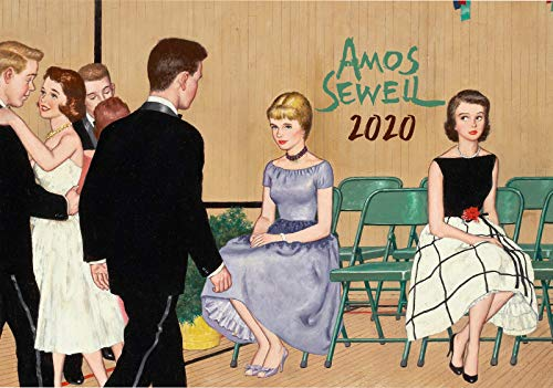 Calendario de pared 2020 [12 páginas 8 x 11 pulgadas] escenas diarias por Amos Sewell Vintage Saturday Evening Post Magazine Illustration