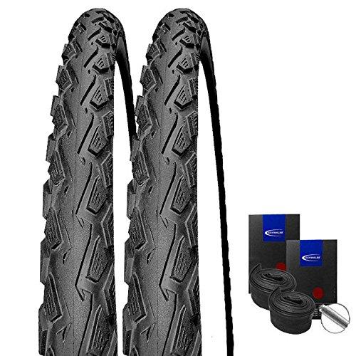 Set: 2 x Schwalbe Land Cruiser schwarz Reifen 42-622 / 28x1.60 + Schwalbe Schläuche Autoventil