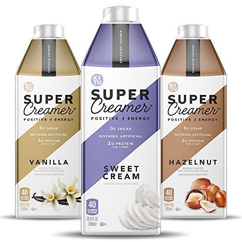 Kitu Super Coffee Keto Coffee Creamer   0g Added Sugar, 2g Protein, 40 Calories [Variety Pack] 25.4 Fl Oz, 3 Pack
