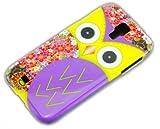 thematys Samsung Galassia S4 i9500/i9505 Lila Eule Owl Design Hard-Case Schutz-Hülle Schale Etui