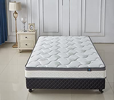 Aloe Vera Memory Foam & Spring Mattress - Cool & Gel Infused - Plush Double Layered