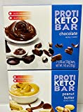 Proti Fit Keto Protein Diet bar Bundle Chocolate and Peanut Butter (14 Servings) - | Healthy Nutritious|, Low Calorie, Low Fat, Low Carb, Low Sugar