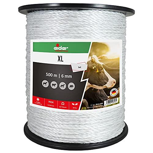Eider Kordel XL 500 m 6 mm Weidezaunlitze Kordel Elektroseil Edelstahl Kordellitze - Made in Germany