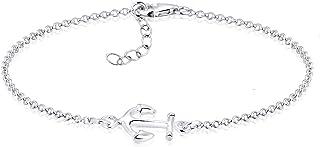 Elli Women's 925 Sterling Silver Xilion Cut Chain Bracelets of Length 17 cm