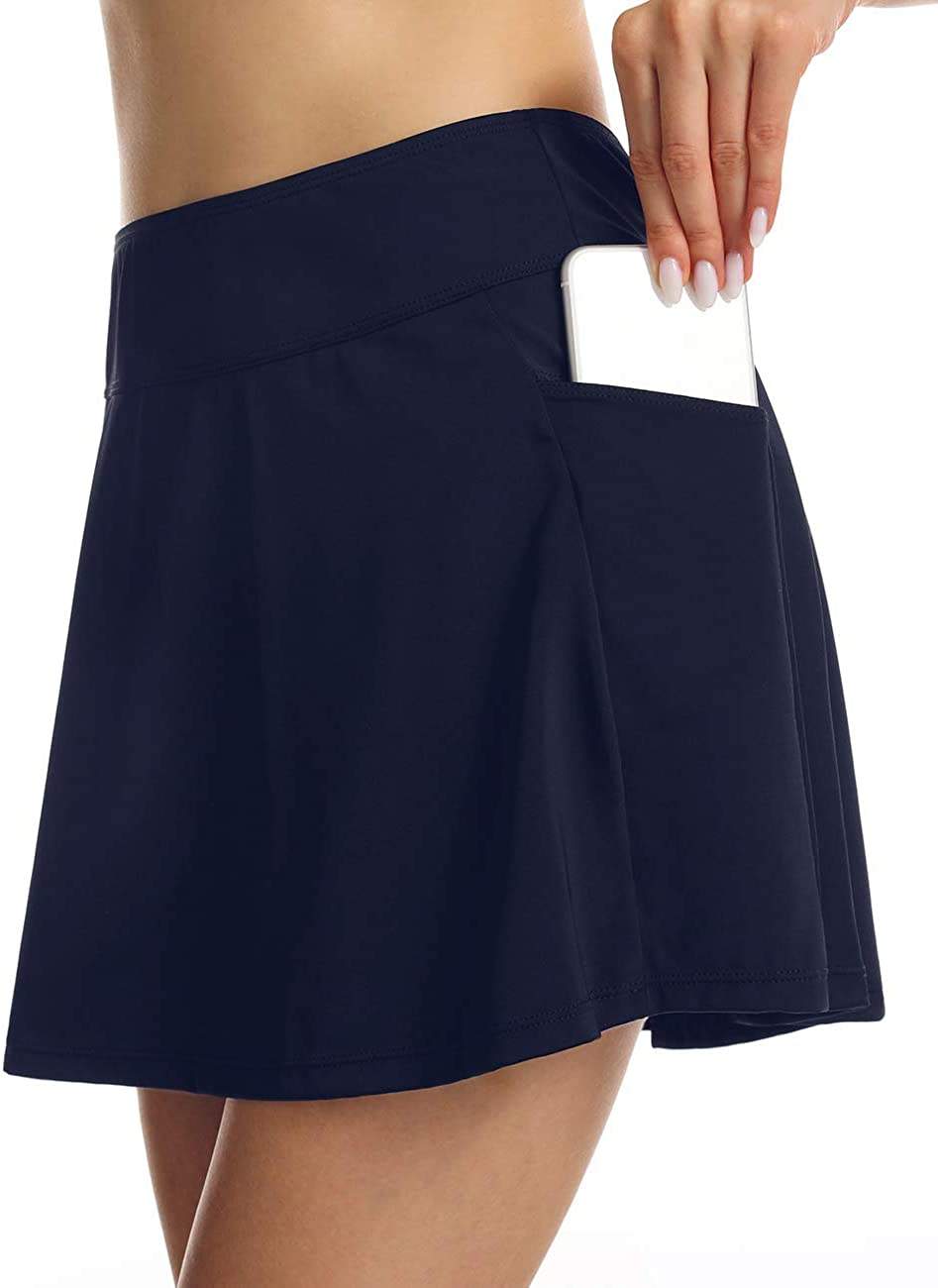 Septangle Women's Swim Skirts Tankini Bottom with Side Pocket Swimsuit