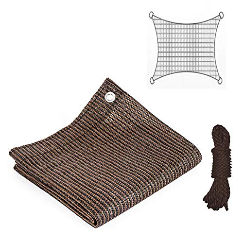 UNIE 95% Sunblock Shade Cloth with Grommets and 26ft Rope, 6.5 ft x 6.5 ft Sun Shade Cloth, Shade Fabric for Plants, Garden, Greenhouse, Patio, Barn