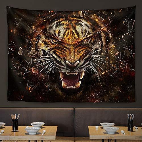 Hancoc Wandbehang Wohnzimmerwand Tierbehang Stoffwand Bar Restaurant Teestube Hintergrund Dekorative Malerei Hängen (Color : Tiger)