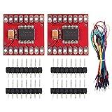 Youmile 2PCS TB6612FNG Doppelmotor-Treibermodul DC-Schrittmotor-Antriebssteuerkarte für Arduino-Mikrocontroller mit Sprungdraht