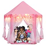 Orian Princess Castle Playhouse Tent for Girls with LED Star...