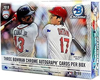 2018 Bowman Chrome HTA Choice Box (3 Encased Autographs)