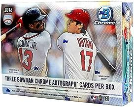 2018 Bowman Chrome HTA Choice Box (3 Encased Autographs)