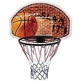 GOPLUS Basketballbrett mit Ring und Netz, Basketball Korb Set fürs Zimmer, Basketball Backboard mit Wandmontage, Basketballboard für Kinder und Erwachse, für Indoor & Outdoor