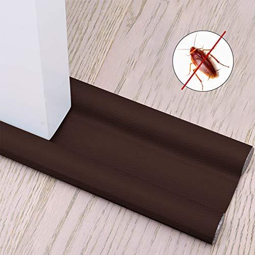 Xnuoyo Paraspifferi Sottoporta Paraspifferi per Porte Striscia di Tenuta Inferiore della Porta può Prevenire Efficacemente Vento, Polvere, Insetti e Isolamento Acustico (Marrone)