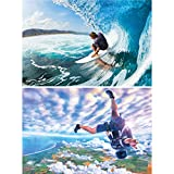 GREAT ART 2er Set XXL Poster Surfer und Skydiver Wandbild