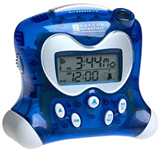 Oregon Scientific RM313PNA Self-Setting Projection Alarm Clock with Indoor Thermometer, Blue (B00005B0BE) | Amazon price tracker / tracking, Amazon price history charts, Amazon price watches, Amazon price drop alerts