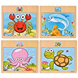 SIPLIV Puzzle en Bois Puzzle Jouets d'éducation précoce pour Les Enfants de 2 à 6...