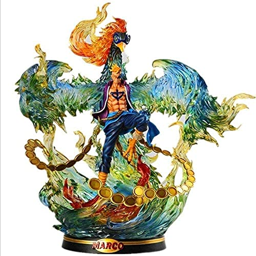 46cm One Piece Anime Carácter Modelo Marco Ornamentos Chippet Handicares Handicare Toys Toys Oversize-Phoenix-Marco Figura Figura Anime Estatua Decoraciones Modelo Juguetes para niños 🔥