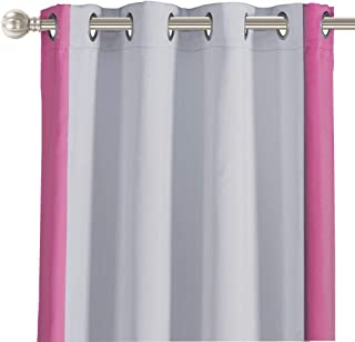 LORDTEX Color Block Blackout Curtains for Kids Room...