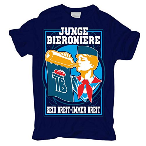 Männer und Herren T-Shirt Der Osten Junge Bieroniere Größe S - 8XL
