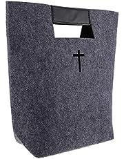 STOBOK Claret Filt Bibeln Tygväska Bibelbärare Handväska Filt Bärväska Bibelboksskydd Shopping Bärväska Kyrka Studiefodral Matkasse för kvinnor