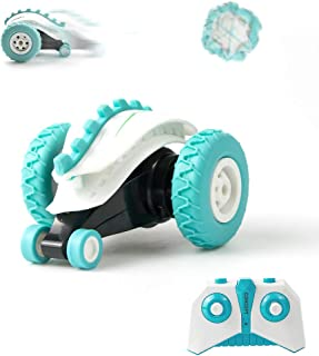 Sinovan Mini RC Cars Stunt Car Toy, 4WD 2.4Ghz Remote Control Car Double Sided Rotating Vehicles 360° Flips, Kids Toy Cars for Boys & Girls Birthday (F)