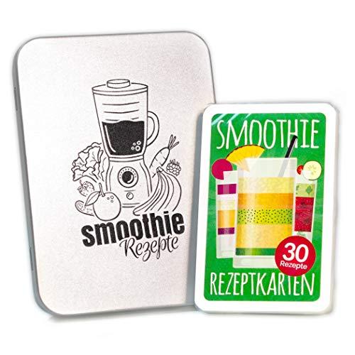 Chroma Products Smoothie Rezepte auf 30 Karten: Mit Abbildungen und Erklärungen mit Metalldose, Kartenspiel als Smoothie Geschenk, Rezepte auf deutsch