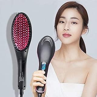 BAYUE New Hair Straightener Brush Hair Electric Brush Comb Irons Straight Hair Comb Brush Hair Straightener Curler Styling Tool (Color : Rose red standard, Plug standard : AU)