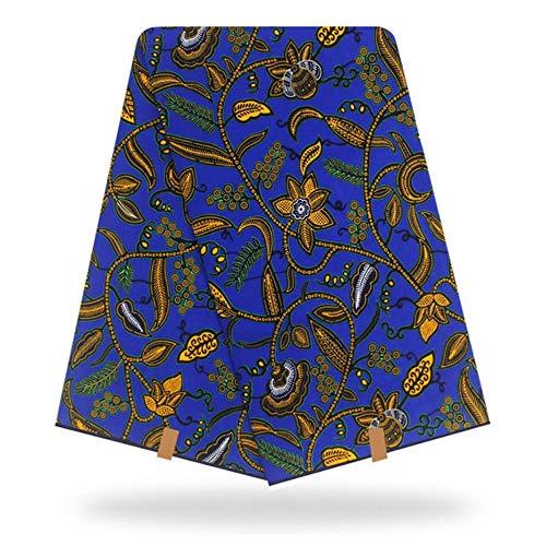 Coner Nigeria Wax Afrikaanse stof Wax Printstof Afrikaanse Ankara-stoffen Naaimateriaal 6yard voor jurk, kleur 3.110cm 6 Yards
