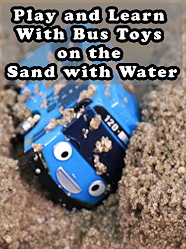 Play and Learn With Bus Toys on the Sand with Water