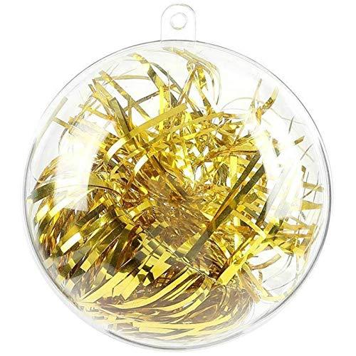 20 pezzi 8 cm Palline decorative riempibile per fai da te in plastica trasparente per matrimoni, Natale, Capodanno, regali, decorazione domestica, Clear, 8 cm