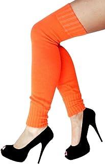 krautwear Damen Beinwärmer Stulpen Legwarmers Overknees gestrickte Strümpfe ca. 70cm 80er Jahre 1980er Jahre