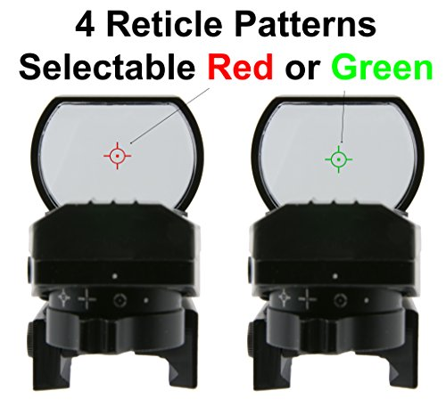 Survival Land Z-12 Advanced Targeting Reflex Sight with 4 Selectable Illuminated Red or Green Target Reticle - Great for Hunting, Paintball, or Target Practice