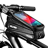 Faireach Bolsa Manillar con Soporte Móvil para Telefono Bicicleta, Bolsa Bici, Bolso Bicicleta Impermeable y con Ventana para Pantalla Táctil, para iPhone, Samsung y Otros Smartphones de hasta 6,5''