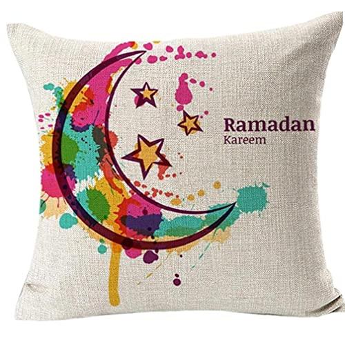 Zonster Musulmán del Ramadán Eid Mubarak Kareem Fundas Sofá Throw Cintura Cojín extraíble Fundas de Almohadas Productos del hogar Cubierta