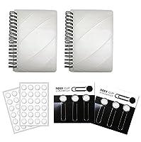 バレーボール(白) インデックスクリップ2セット+作戦ノート【A6サイズ】2冊+シール2枚 プライム