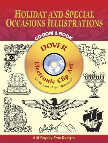 Compare Textbook Prices for Holiday and Special Occasions Illustrations CD-ROM and Book Dover Electronic Clip Art  ISBN 0800759999491 by Dover