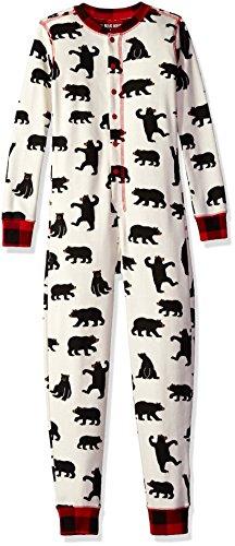 Hatley Little Blue House by Kids Union Suit Juego de Pijama, Black Bear, 4 Years Unisex Adulto