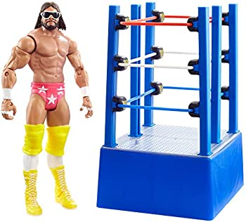 WWE Wrestlemania Moments Macho Man Randy Savage 6 inch Action Figure Ring Cart with Rolling WheelsCollectible Gift for WWE Fans Ages 6 Years Old and Up