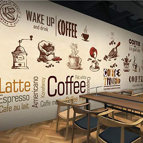 3D Mural Persoonlijkheid, Houten Behang Mural Cafe Cake Store Thee Restaurant, Vrije tijd bar Sofa Behang 208 cm (B) x 146 cm (H)