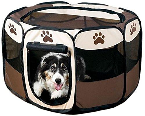 【 簡単 設置 】 折り畳み ペット サークル 犬 猫 兼用 Wファスナー コンパクト メッシュ MI-PETCIR