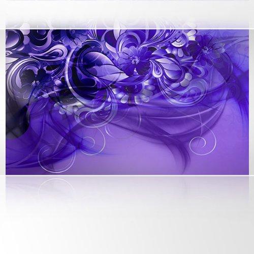 LanaKK - Emotion Curvature Blau Violett - Fototapete Poster-Tapete - edler Kunstdruck auf Erfurt Vliestapete mit Stuck Optik in 300x180 cm