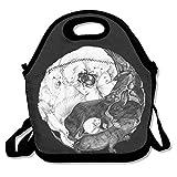 Yin Yang animales almuerzo Tote Bag bolsas Awesome almuerzo caja fiambrera de bolso para la escuela trabajo al aire libre