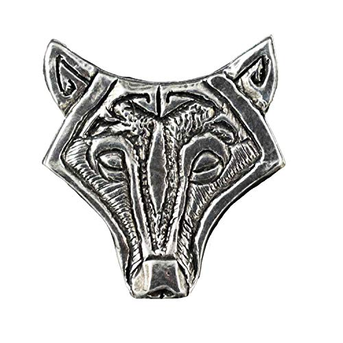 Celtic Knot Wolf Pewter Lapel Pin, Brooch, Jewelry, G27